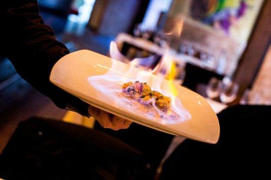 Frederiksberg, Denmark: Gamberoni flambati al Brandy