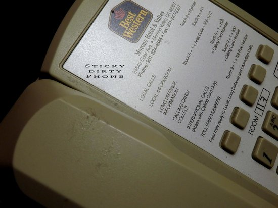 Best Western Moreno Hotel & Suites : DIRTY STICKY PHONE