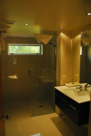 Distinction Te Anau Hotel and Villas : Villa bathroom