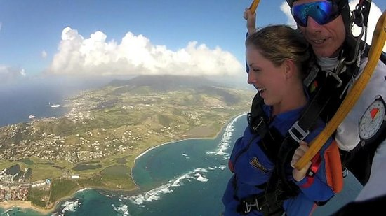 Skydive St Kitts: Beautiful St. Kitts