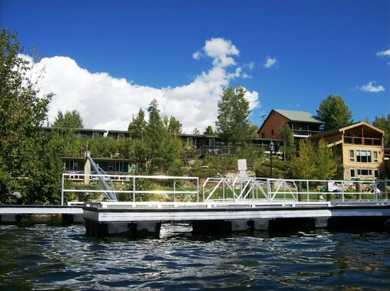 Western Riviera Lakeside Lodging & Events: Small lower lakeside cabins & large upper lakeside cabins from water
