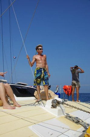 SY Nakamal Sail and Dive Charters: Dieter, always looking out for his guests!