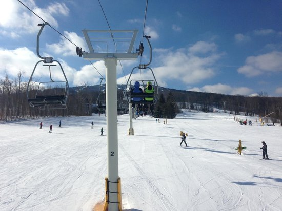 Stratton Mountain: small lift to first half of Tamarack, small/beginner's green course