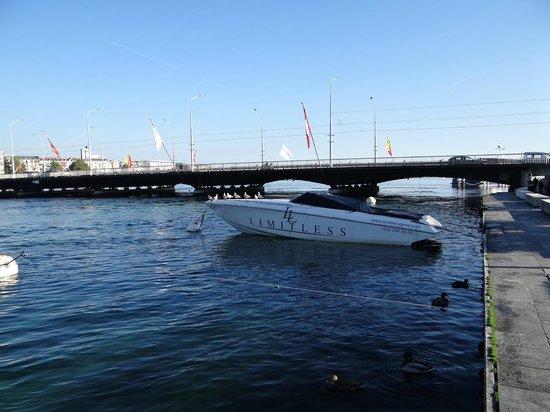Lago de Ginebra: Sol e vento...