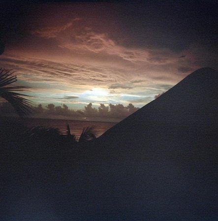 Cabañas La Luna: Sunrise from Marco Polo's Journey deck