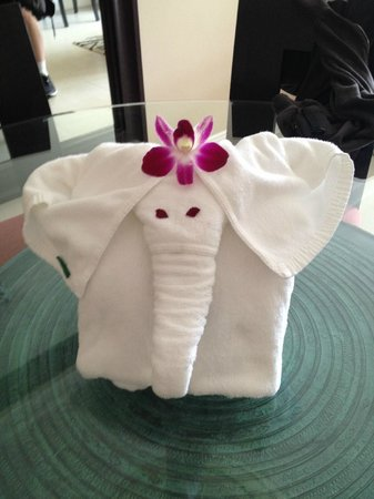Marriott's Mai Khao Beach - Phuket: Elephant Towel to greet us in room