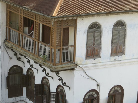 View of the roof terrace of Zanzibar Coffee House
