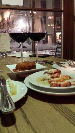 Pintxo Pincho: Great food and wine to accompany a beautiful snowy evening!