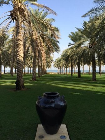 The Chedi Muscat – a GHM hotel: View from patio restaurant