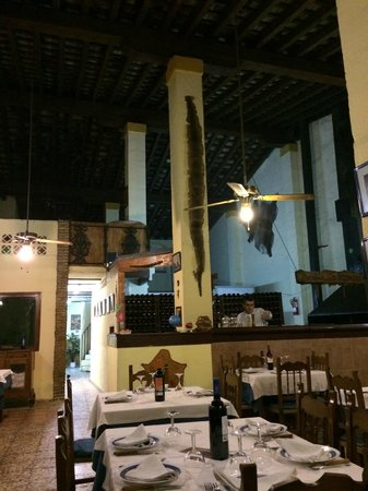 Parrilla La Pampa: Inside the restaurant, taken near the fire and well