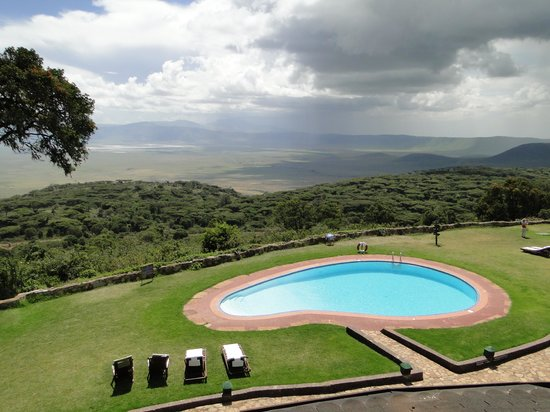 Ngorongoro Sopa Lodge: View of the crater from the Lodge
