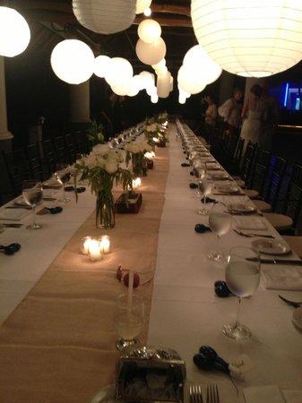Villa Premiere Boutique Hotel & Romantic Getaway: Wedding dinner table