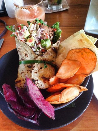 CHANDI: Tempe & Avocado wrap - delish!