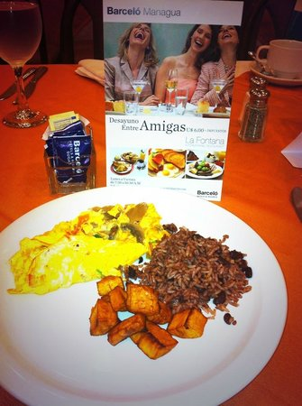 Barcelo Managua: Desayuno entre amigas