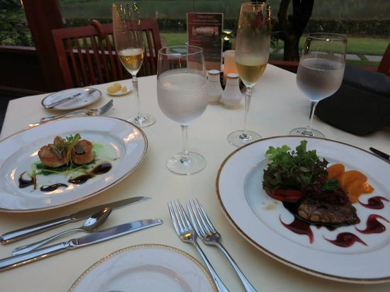 Le Crystal Restaurant : Appetizers: foie gras and scallops