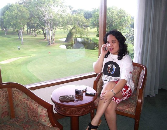Sanur Paradise Plaza Hotel: Golf Course from The Presiden Suites Room