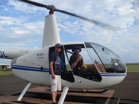 Inter-Island Helicopters - Tours: Pilot Spencer with Staff member- Mike