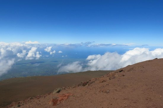 Haleakala Crater: In the clouds