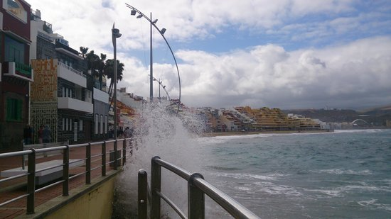 Playa de Las Canteras: No seaside lunch today