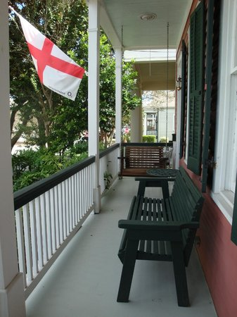 House of the Rising Sun Bed and Breakfast : A sweet front porch and a swing with a special history (ask Kevin about it)