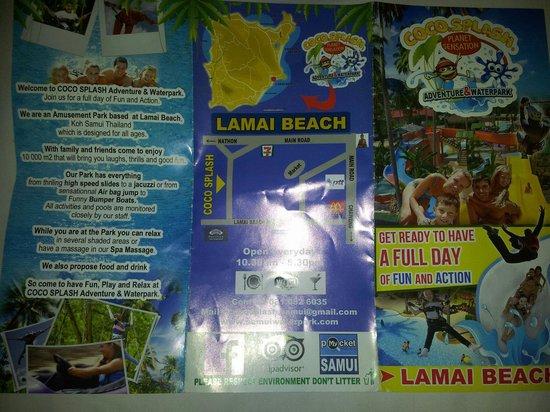 Coco Splash Adventure & WaterPark: Coco splash brochure info