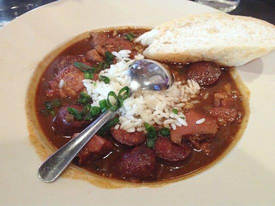 Huck Finn's Cafe: Chicken gumbo at $8.95