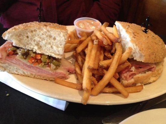 Huck Finn's Cafe: Muffaletta Sandwich