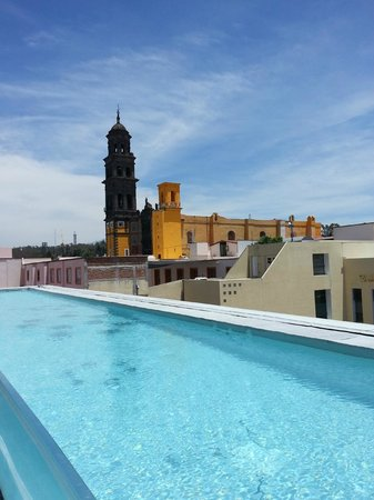 La Purificadora: Swimming pool and view of the cathedral