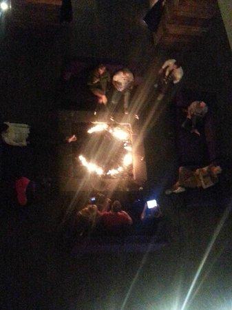 La Purificadora: Fireplace