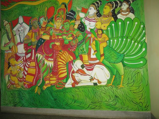 Backpacker Holidays Guest House Kochin: obscene picture in the hallway