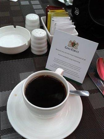 Gino Feruci Kebonjati Bandung: a cup of coffee