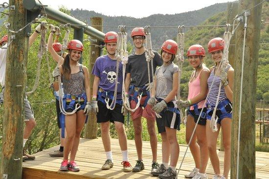 Glenwood Canyon Zipline Adventures: Strike a pose