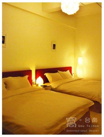 Wow Tainan International Hostel : Twin Double Family En-suite 四人家庭套房