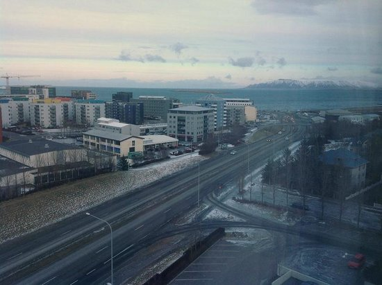 Grand Hotel Reykjavik: The view from our room facing the road to the city centre.