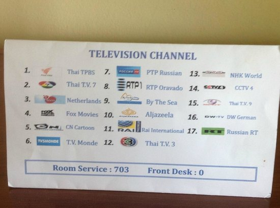 By The Sea: TV channels