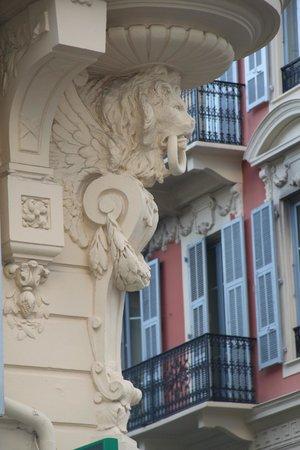 Hotel Le Seize : Détail façade 1