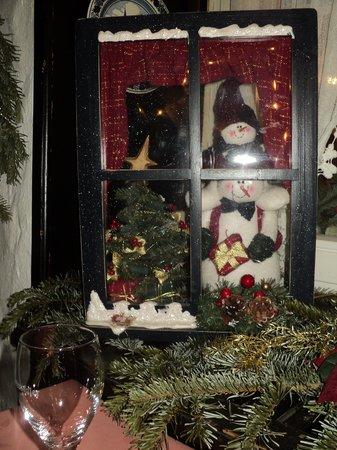 Hotel Alte Laterne: рождественское украшение в кафе