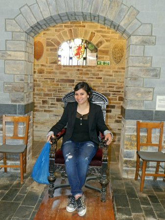 King Arthur's Great Halls: Gwen's throne chair