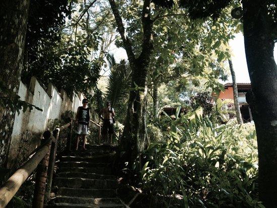 Pousada Tagomago Beach Lodge: entrada a la posada
