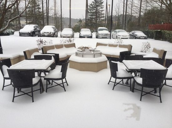 Snow Then Sleet Feb 12 Raleigh Airport Picture Of Hilton Garden Inn Raleigh Durham Airport