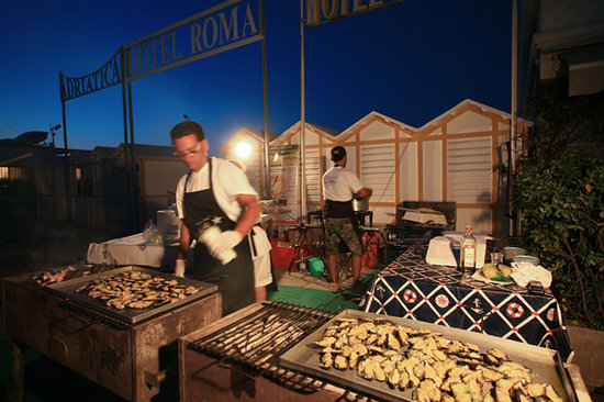 Bagno Giulia 85: cozze a cena