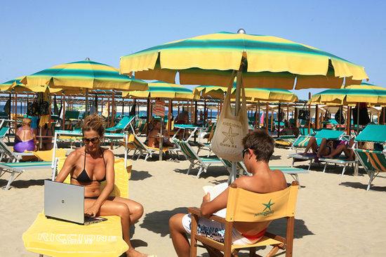 Bagno Giulia 85: wi-fi in spiaggia