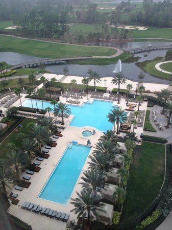 Waldorf Astoria Orlando: View of pool and cabana area