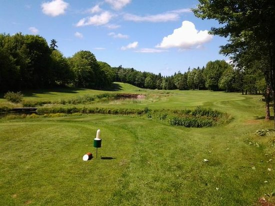Mill River Golf Course - Rodd Mill River Resort: Hole #7 from the tee box
