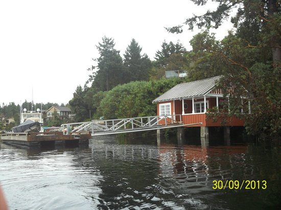 The Boathouse: View of the Boat House from the river