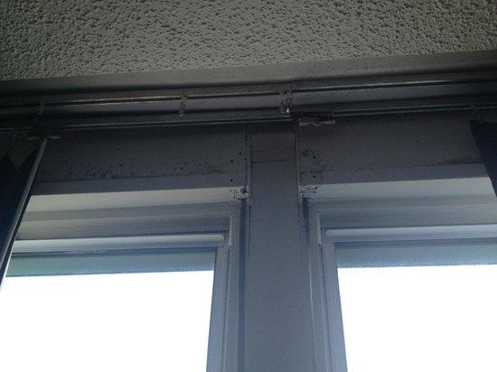 San Juan Beach Hotel : mold around the window area