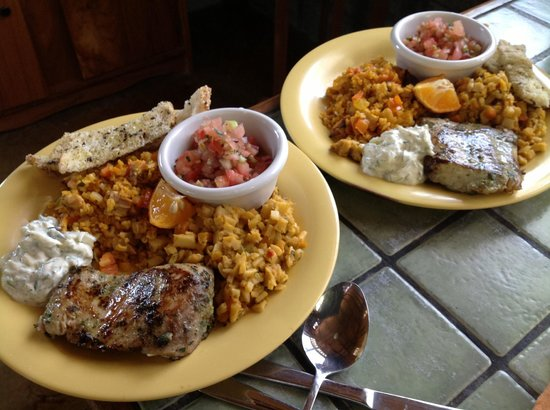 Some fresh fish from the fishing village, Arroz con Pollo, Palmitto, all made at Casas de Soleil
