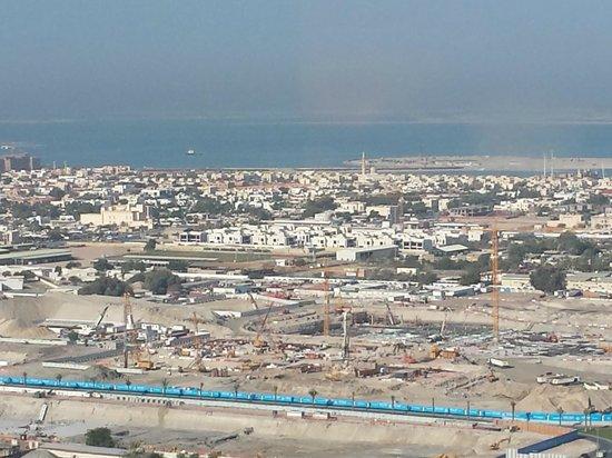Dusit  Thani Dubai : view out to World development in sea