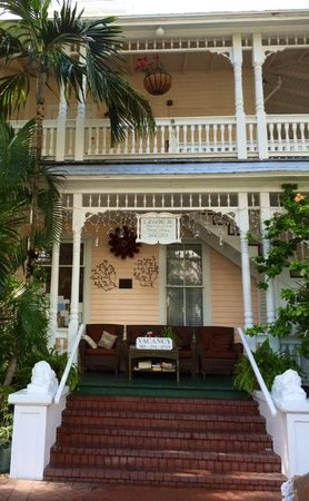 Southernmost Point Guest House: Front porch view