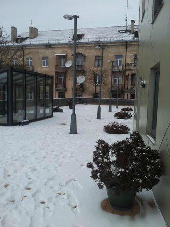 Kaunas Hotel : rear balcony